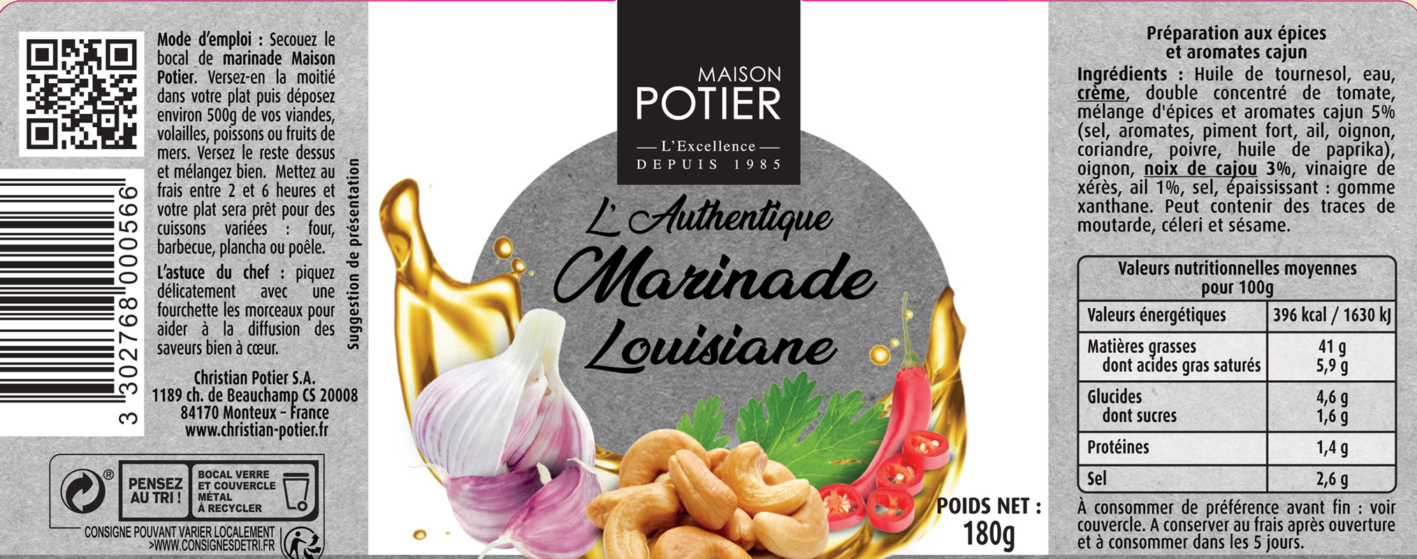 bocaux marinade louisiane